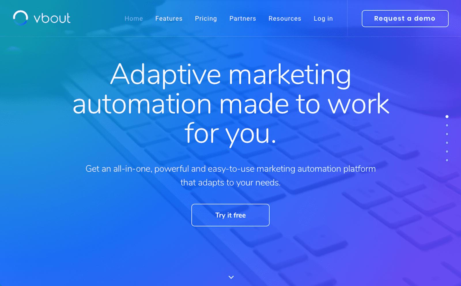 VBOUT • Adaptive Marketing Automation Platform