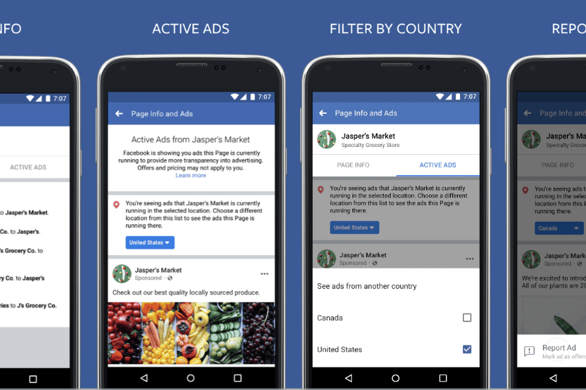 Transparency for FB ads