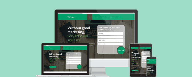 Create responsive landing pages that convert