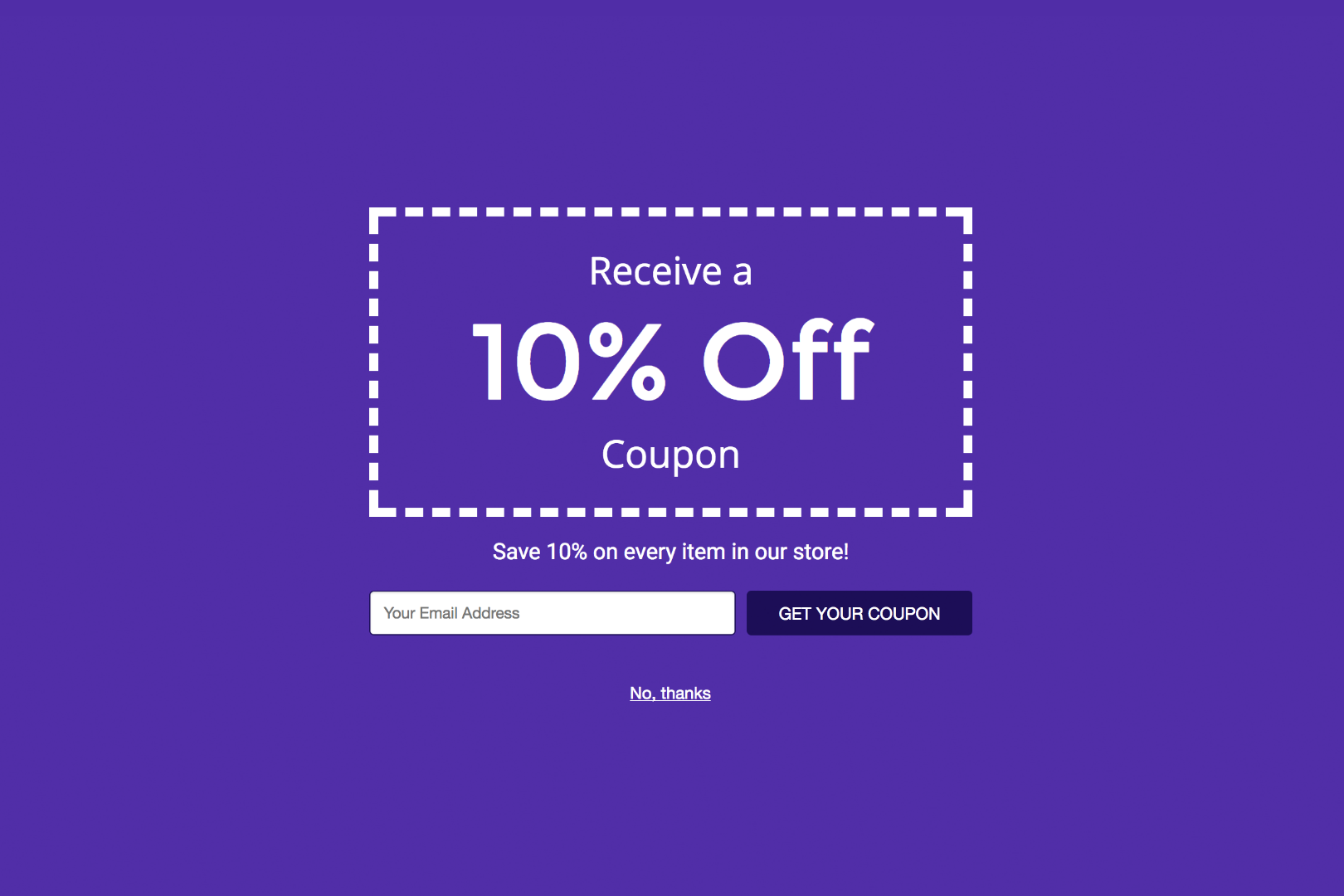 Generate leads with smart popups