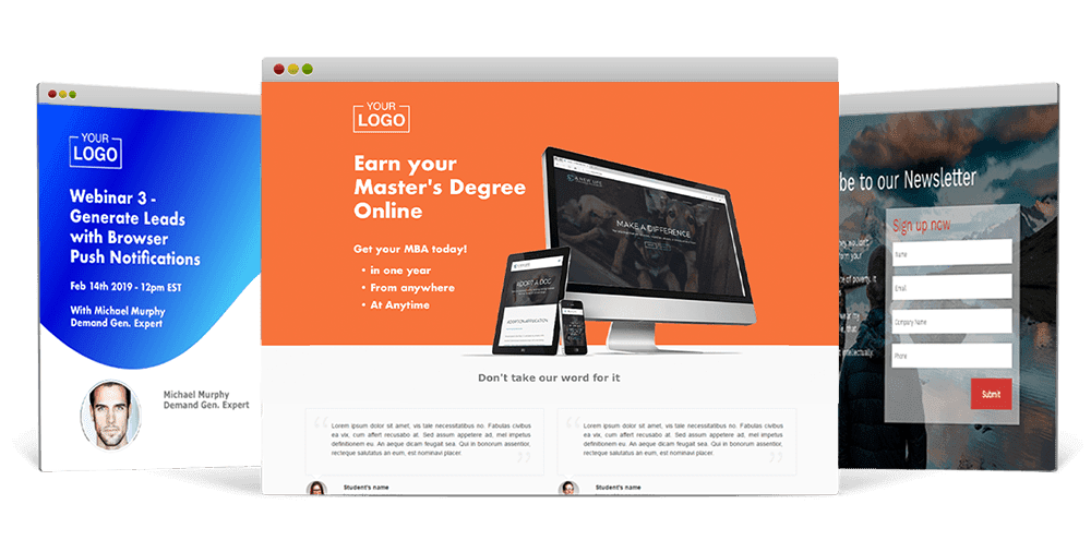 VBOUT Landing Pages Templates