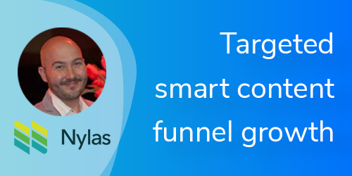 VBOUT Vcast Targeted Smart Content Funnel Growth with Nylas