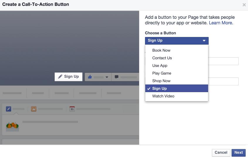 Social-media-call-to-action-button