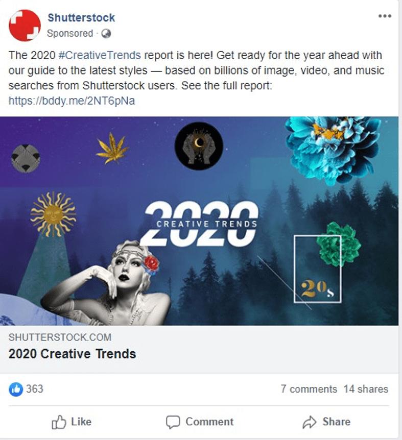 Sponsored social media post