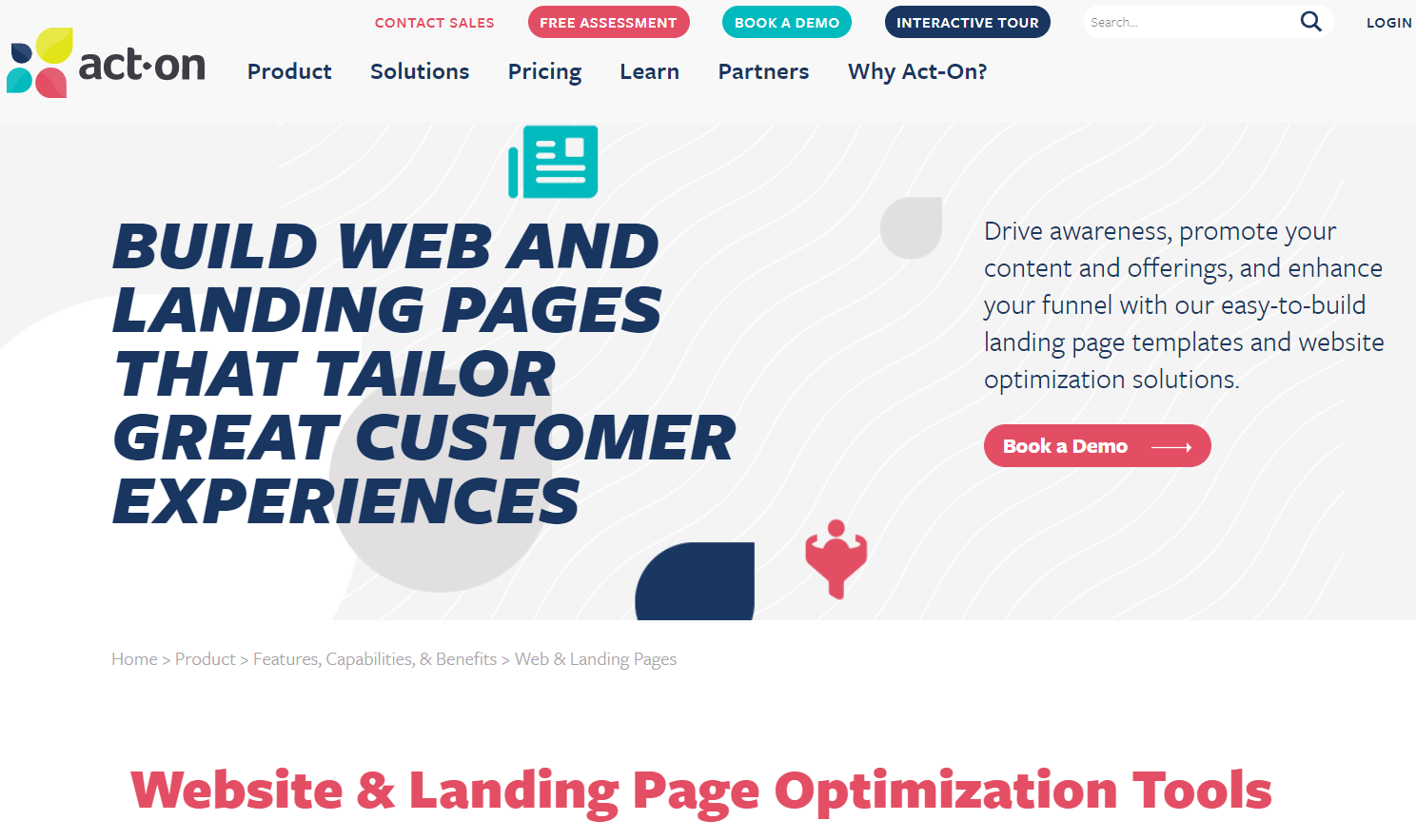 Act-On landing page builder