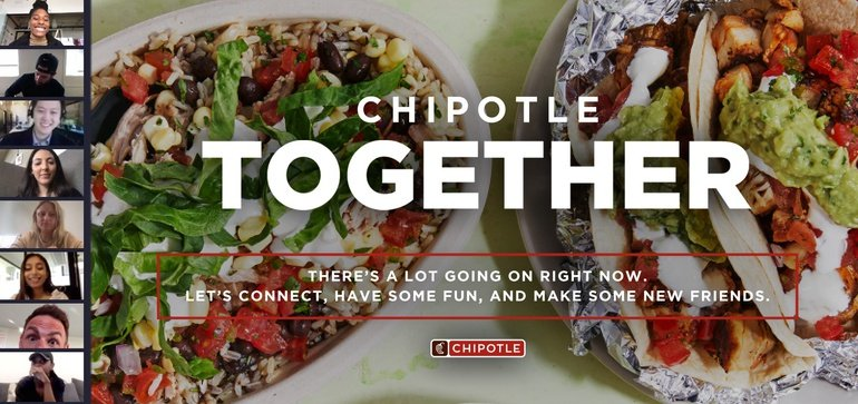 Chipotle online conference event on Zoom