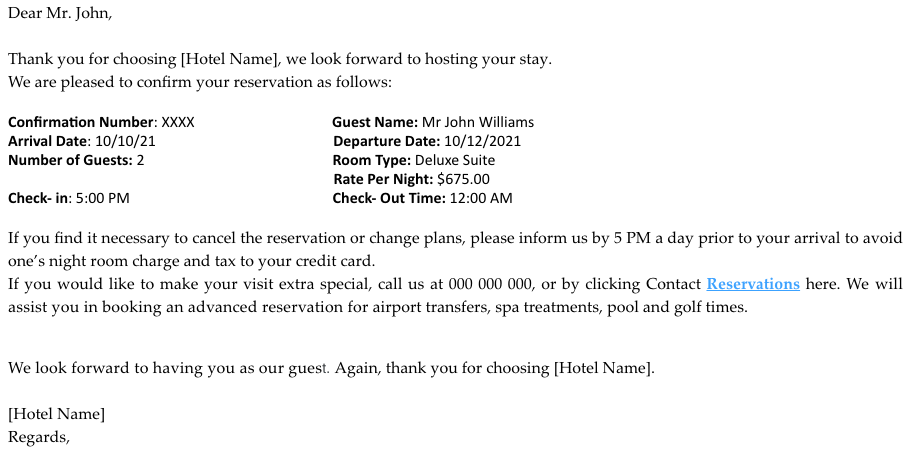 Hotel reservation confirmation email (1)